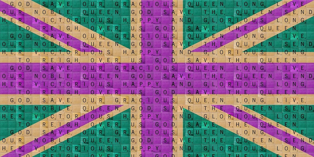Scrabble Union Jack #4 by Gary Hogben