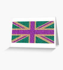 Scrabble Union Jack #4 Greeting Card
