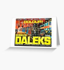 Doctor Who Poster – Doctor Who and the Daleks Greeting Card