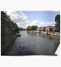 River Avon Viewed From Evesham Poster