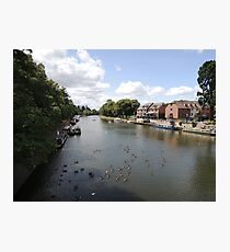 River Avon Viewed From Evesham Photographic Print