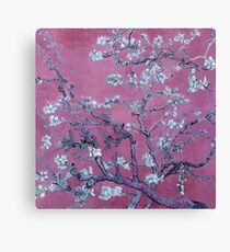van goghs almond blossoms with orchid background Canvas Print