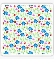 Watercolor colorful pattern with flowers Sticker