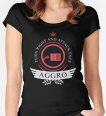 Aggro Life V1 Women's Fitted Scoop T-Shirt