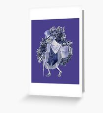 Haunted Mansion Hatbox Ghost Greeting Card