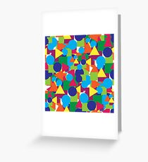 Abstract geomrtry Greeting Card