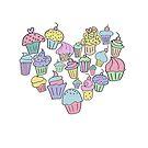 Cupcake Heart by Denise Abé