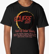 Solar Eclipse USA Path of Totality 2017 Long T-Shirt