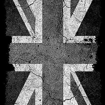 Grunge Black and White Union Jack by SC001