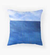 as blue as my blue sky Throw Pillow