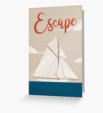 Escapism Greeting Card