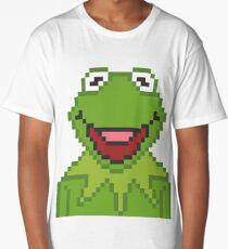 Kermit The Muppets Pixel Character Long T-Shirt