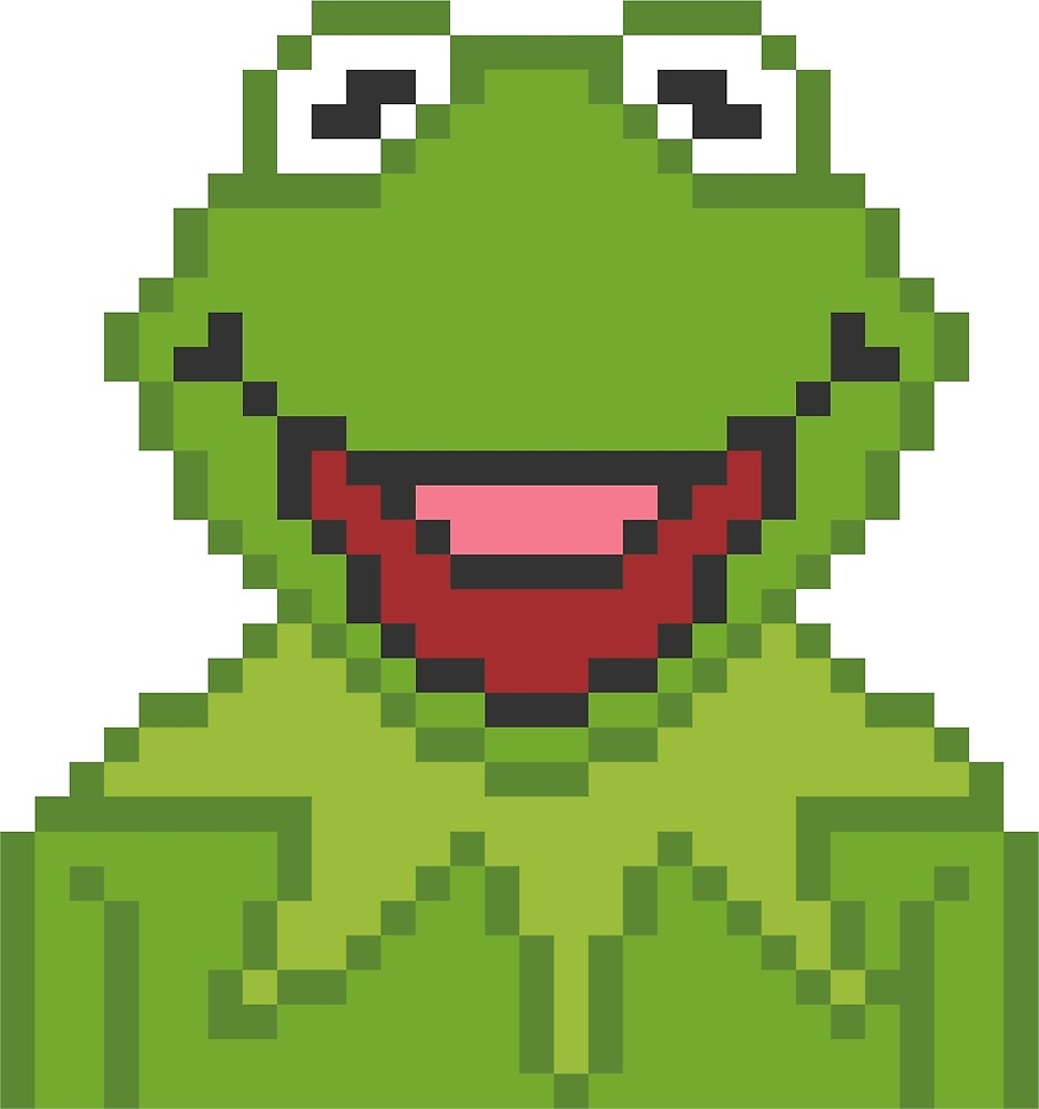 Kermit The Muppets Pixel Character by Rebus 28