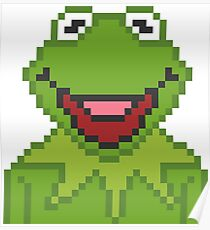 Kermit The Muppets Pixel Character Poster