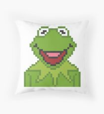 Kermit The Muppets Pixel Character Throw Pillow