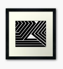 Modern Me Plain Black Framed Print