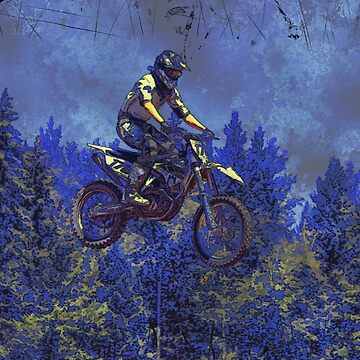 """Getting Air"" Motocross Champion by NaturePrints"