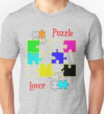 Puzzle Lover (red) Slim Fit T-Shirt