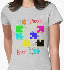 Puzzle Lover (red) Women's Fitted T-Shirt