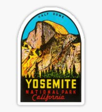 Yosemite National Park Half Dome Vintage Travel Decal/Sticker Sticker