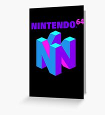 Nintendo 64 Vaporwave Greeting Card
