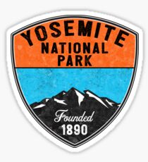YOSEMITE NATIONAL PARK CALIFORNIA OVAL MOUNTAIN HIKING CAMPING CLIMBING CAMPER Sticker
