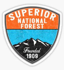 SUPERIOR NATIONAL FOREST  MINNESOTA FISHING HIKING CAMPING Sticker