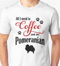 Coffee and my Pomeranian Unisex T-Shirt
