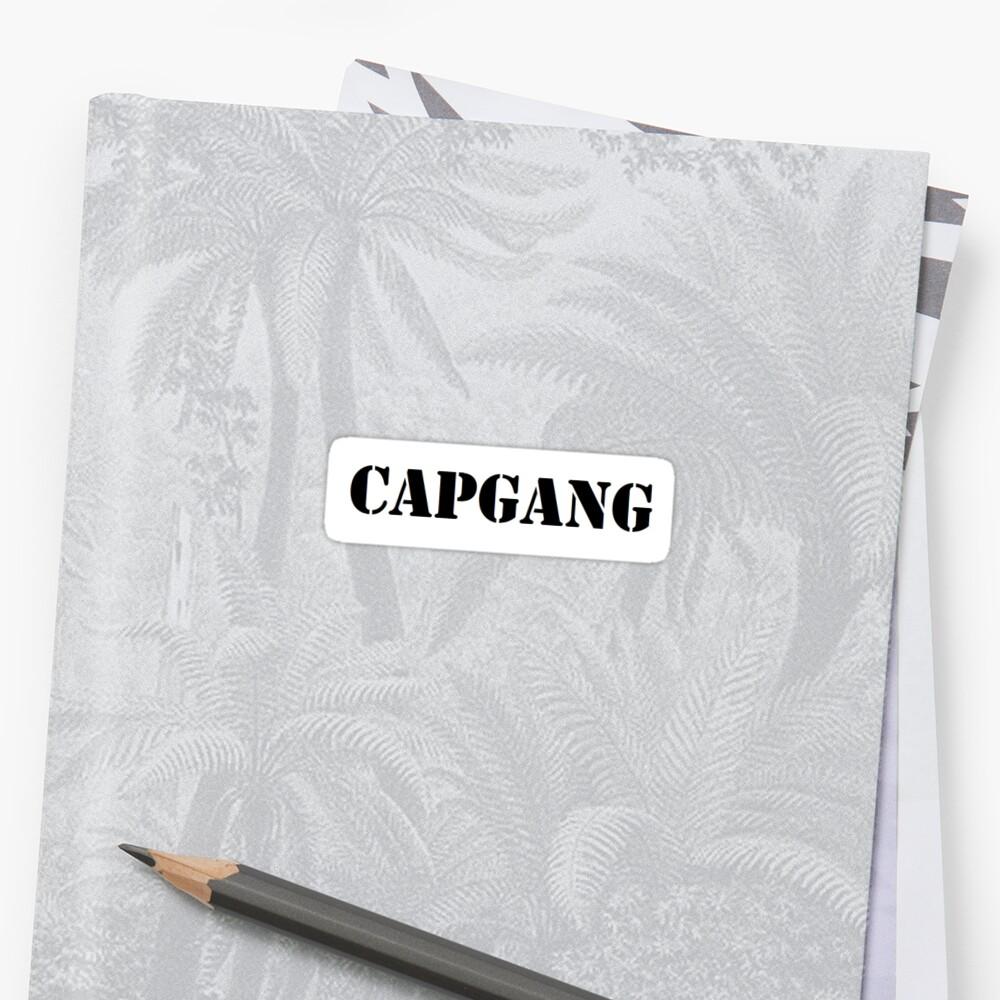 Capgang Sticker- Capricorn by ashleejean