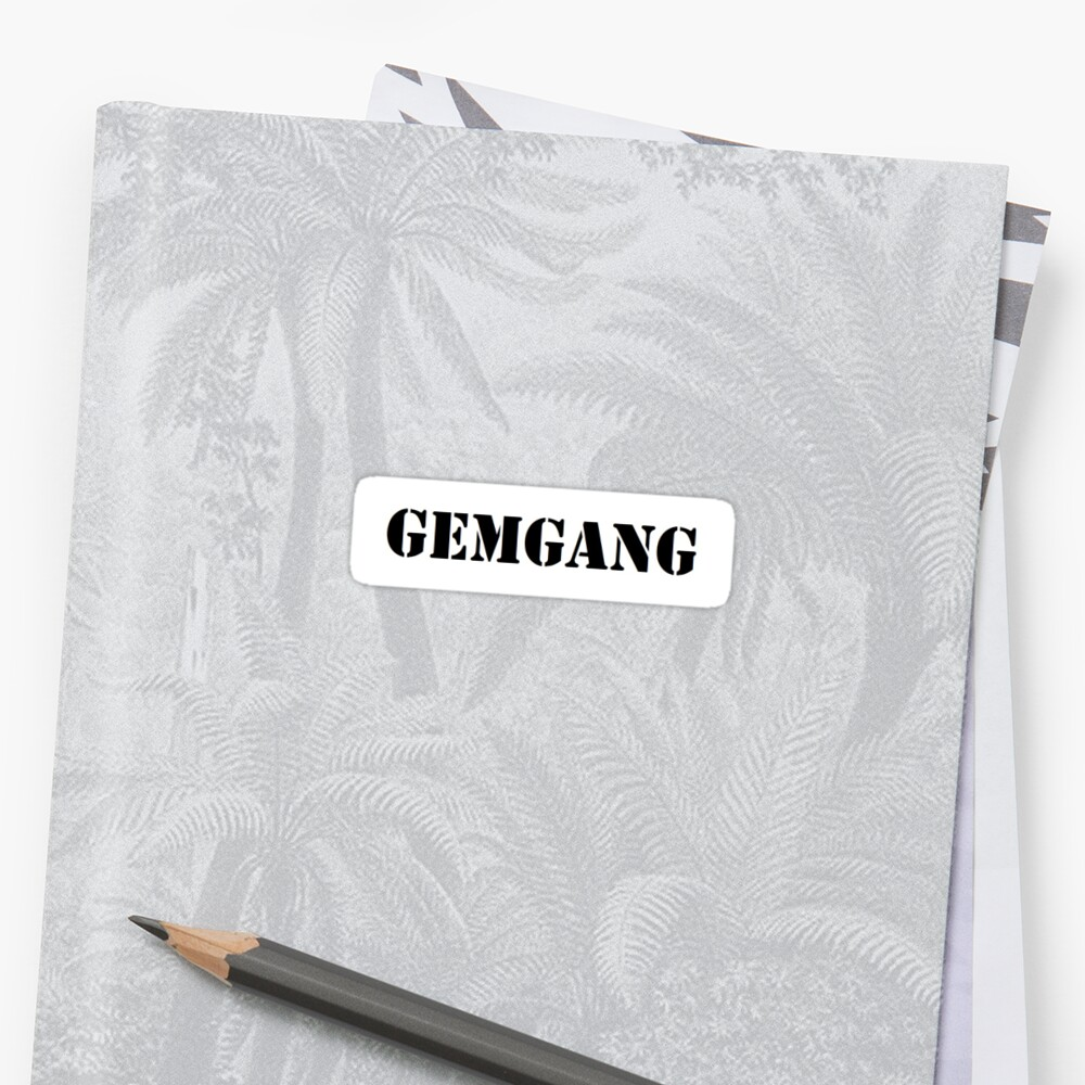 Gemgang Sticker- Gemini by ashleejean