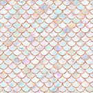 Girly Mermaid Scales Pastel Pattern by blueskywhimsy