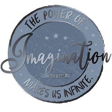 Die Macht der Phantasie ... (blau / silber) von M-ohlala