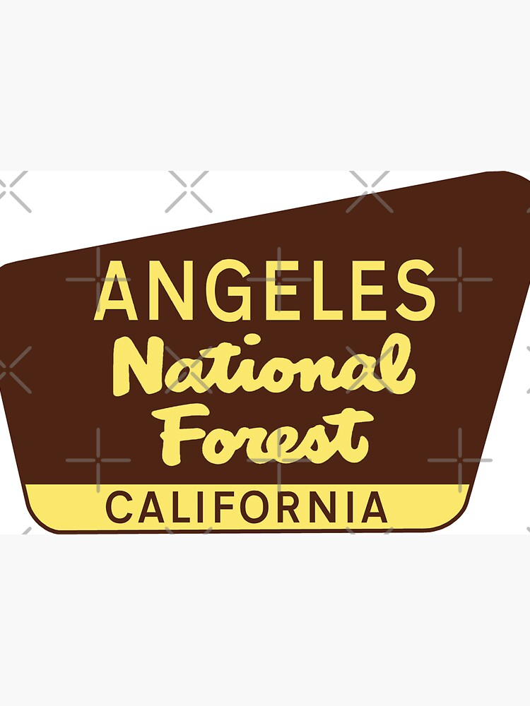 ANGELES NATIONAL FOREST SIGN CALIFORNIA CAMPER NATURE OUTDOORS by MyHandmadeSigns