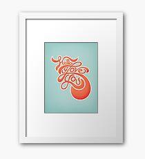 Hello I Love You Framed Print