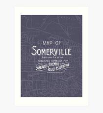 Map of Somerville, Massachusetts - 1895 Art Print