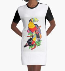 Toucan Play at That Game Graphic T-Shirt Dress