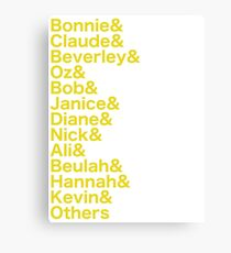 Come From Away - Character Names Canvas Print