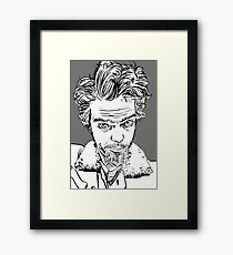 self portrait... goggly-eyed freak Framed Print