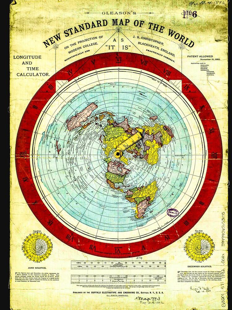 Gleason's Flat Earth by PETRIPRINTS
