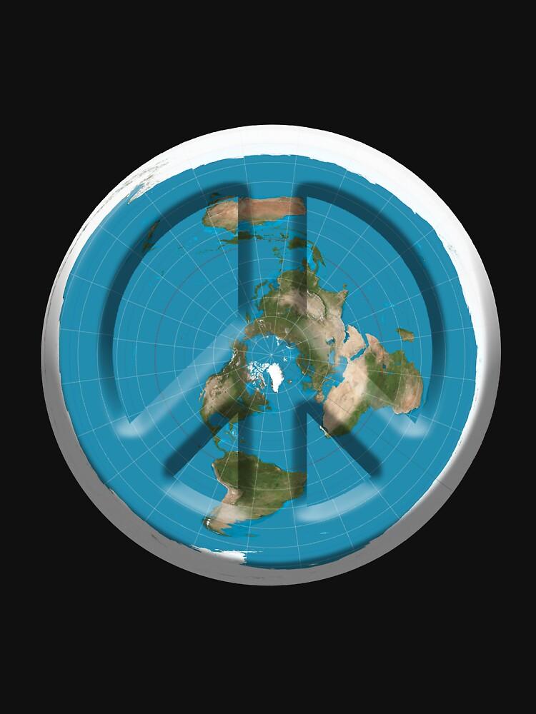 Peace On Flat Earth by PETRIPRINTS