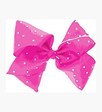 Pink Pink Bow Photographic Print