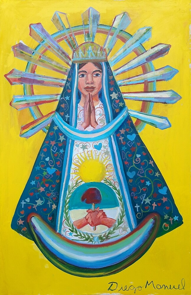 Virgin of Lujan 7 by Diego Manuel Rodriguez