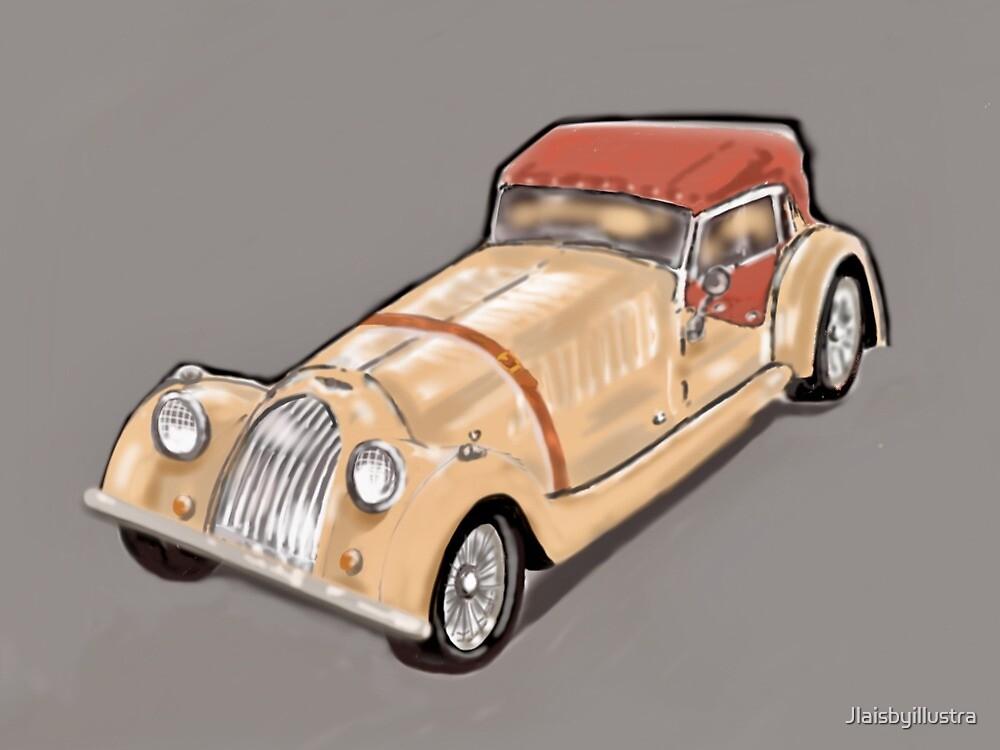 Classic sports car  by Jlaisbyillustra