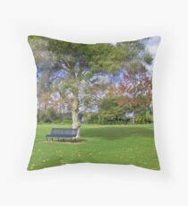 Queens Gardens Throw Pillow
