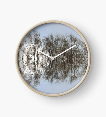 Mirrored Trees Clock