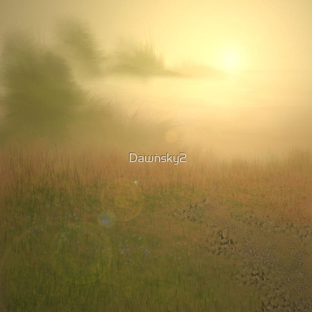 Sunset over misty Lake by Dawnsky2