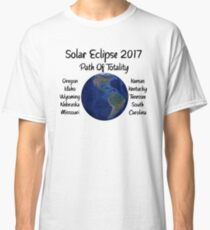 Awesome Solar Eclipse 2017 USA Path Of Totality Tshirt Classic T-Shirt
