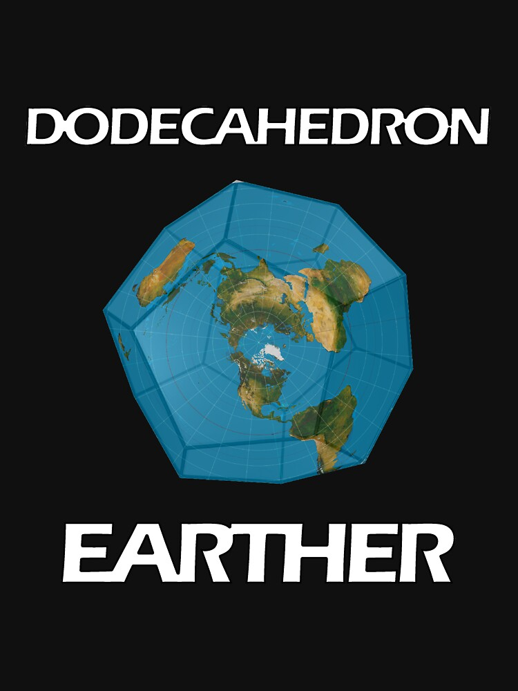 Dodecahedron Earther  by PETRIPRINTS