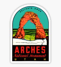 Arches National Monument Vintage Travel Decal Sticker