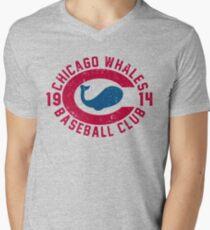 Camiseta de cuello en V Ballenas de Chicago